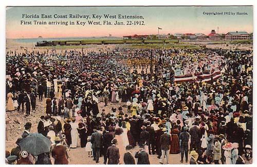 Key West FEC Railway 1st train 1912 Harris