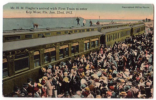 Key West Flaglers arrival with 1st Train Jan 22 1912