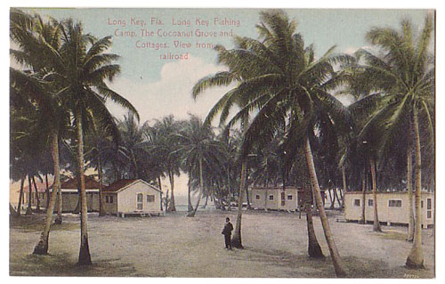Long Key Cocoanut Grove and Cottages view from RR