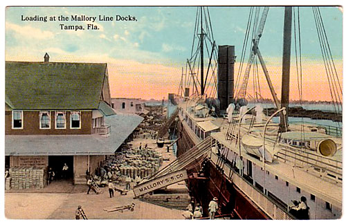 Tampa - Loading at Mallory Line Docks